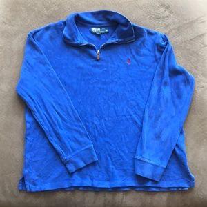 Polo Ralph Lauren Quarter Zip. XL. Royal Blue.